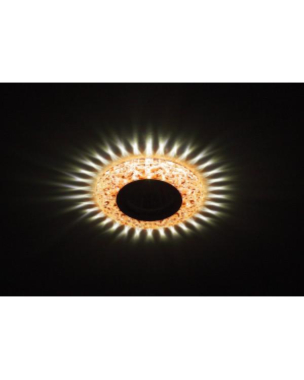 DK LD4 TEA/WH Светильник ЭРА декор c белой светодиодной подсветкой, чай (50/1400), DK LD4 TEA/WH