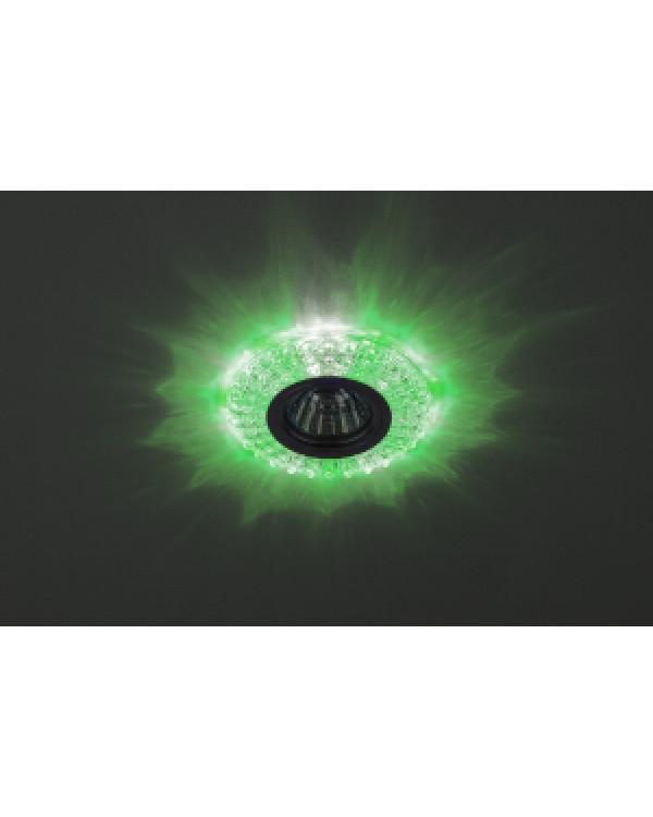 DK LD2 SL/GR+WH Светильник ЭРА декор cо светодиодной подсветкой (зеленый+белый), прозрачный (50/1400