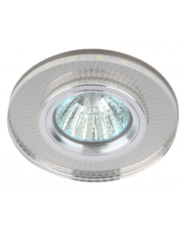 DK LD44 SL 3D Светильник ЭРА декор cо светодиодной подсветкой MR16, зеркальный (50/2000), DK LD44 SL 3D