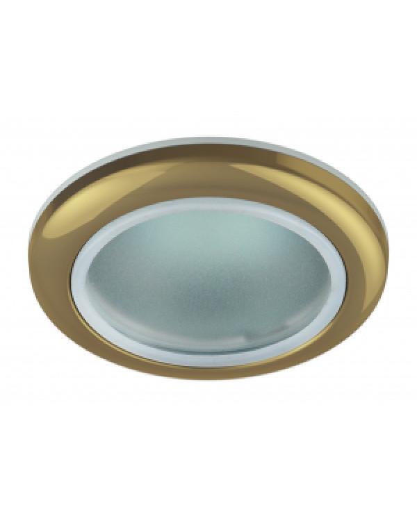 WR1 GD Светильник ЭРА влагозащищенный MR16,12V220V, 50W золото (100/2000), WR1 GD