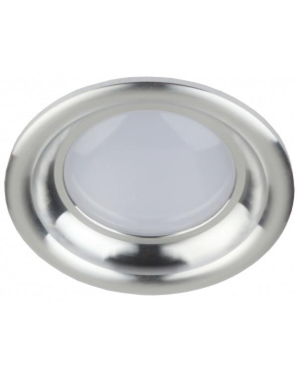 "KL LED 17-5 SL Светильник ЭРА светодиодный круглый ""тарелка"" 5W 4000K, серебро (40/960), KL LED 17-5 SL"