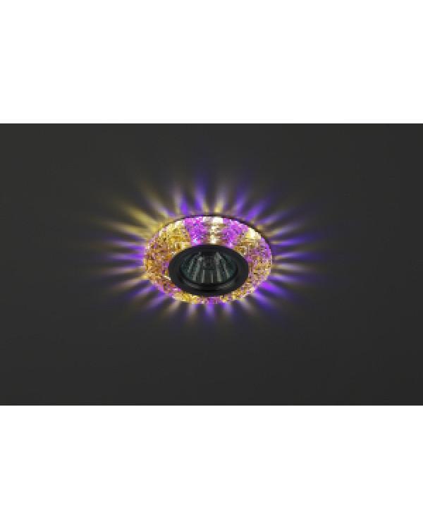 DK LD4 TEA/WH+PU Светильник ЭРА декор cо светодиодной подсветкой( белый+фиолетовый), чай (50/1400), DK LD4 TEA/WH+PU