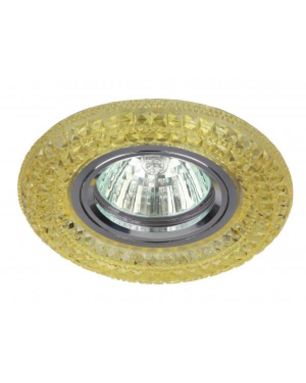 DK LD3 YL/WH Светильник ЭРА декор cо светодиодной подсветкой MR16, желтый (50/1400), DK LD3 YL/WH