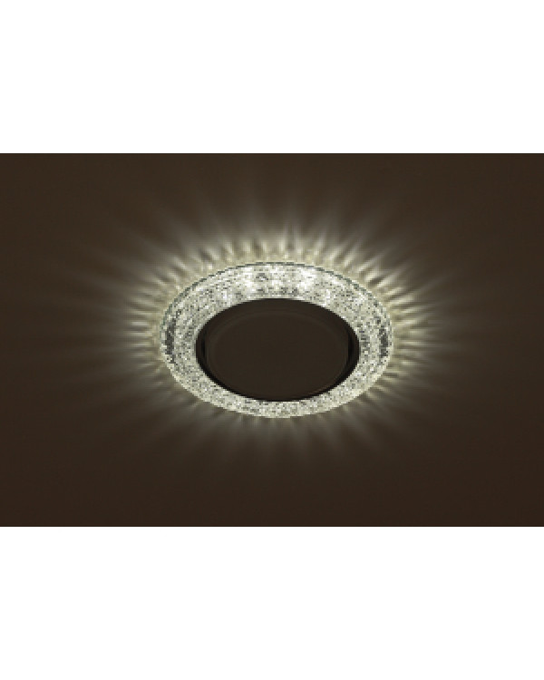 DK LD26 SL/WH Светильник ЭРА декор cо светодиодной подсветкой Gx53, прозрачный (50/800), DK LD26 SL/WH