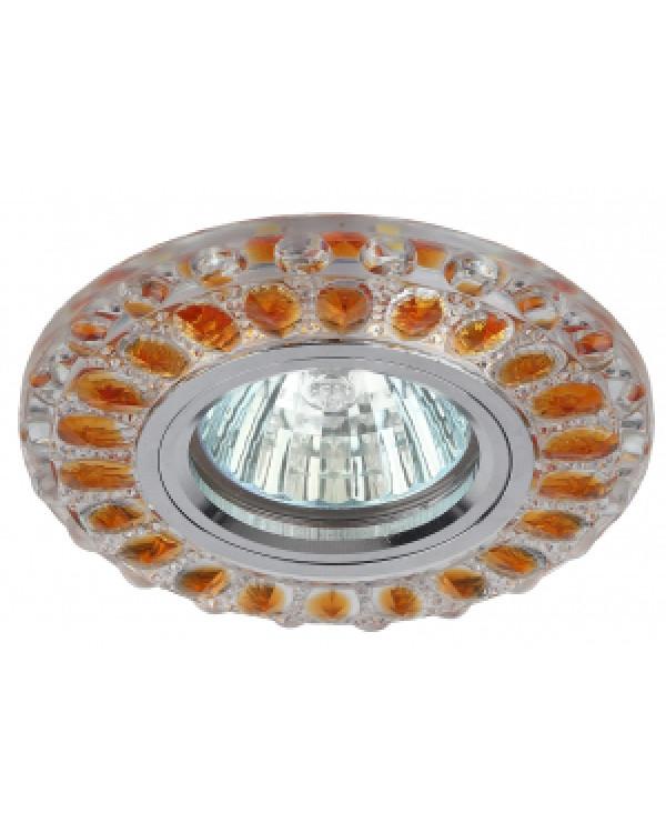 DK LD10 SL OR/WH Светильник ЭРА декор cо светодиодной подсветкой MR16, прозрачный оранжевый (50/1400, DK LD10 SL OR/WH