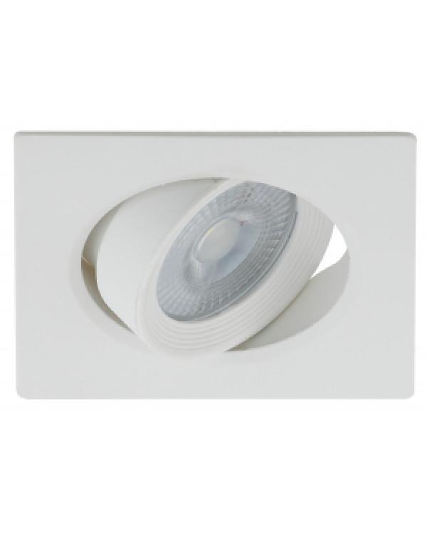KL LED 21A-5 3K WH Светильник ЭРА светодиодный квадратный поворотн. LED SMD 5W 3000K, белый (100/160