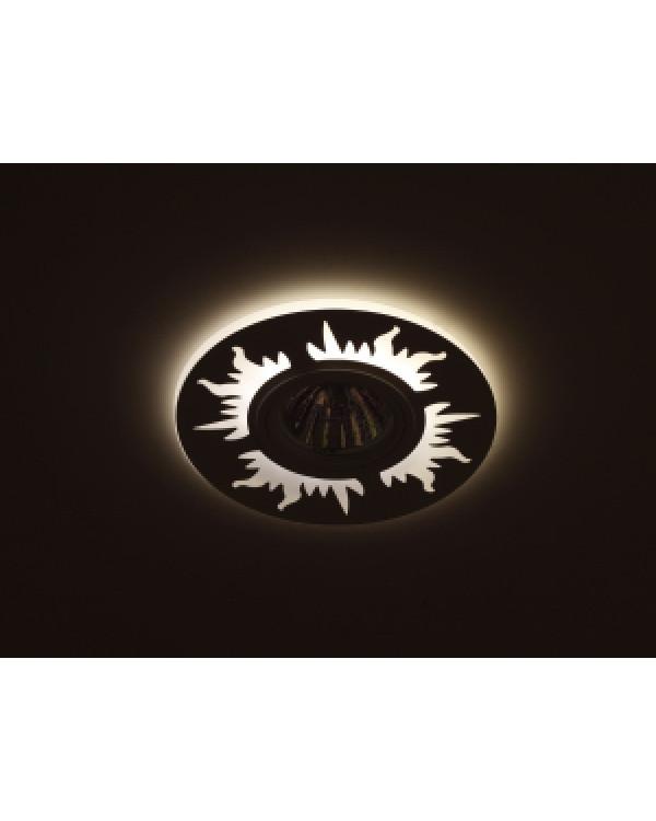 DK LD30 BK Светильник ЭРА декор cо светодиодной подсветкой MR16, 220V, max 11W, черный (50/800), DK LD30 BK