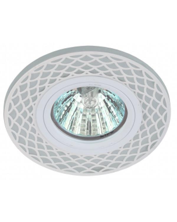 DK LD40 WH/WH Светильник ЭРА декор cо светодиодной подсветкой MR16, белый/белый (50/1750), DK LD40 WH/WH