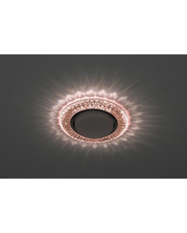 DK LD23 CHP/WH Светильник ЭРА декор cо светодиодной подсветкой Gx53, шампань (50/800)