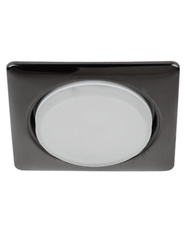 KL71 BK Светильник ЭРА под лампу Gx53 квадр.,220V, 13W,черный металл (40/1120), KL71 BK (к)