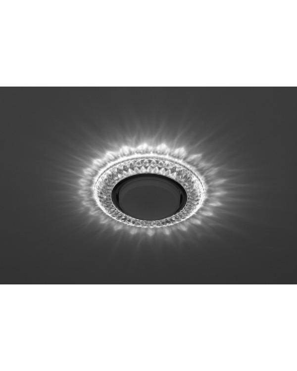 DK LD23 SL/WH Светильник ЭРА декор cо светодиодной подсветкой Gx53, прозрачный (50/800), DK LD23 SL/WH