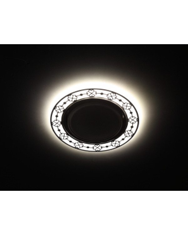 DK LD28 WH/BK Светильник ЭРА декор cо светодиодной подсветкой GX53, белый/черный (30/720), DK LD28 WH/BK