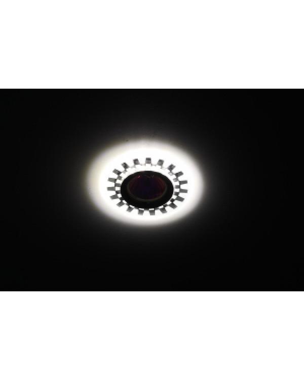 DK LD47 SL Светильник ЭРА декор cо светодиодной подсветкой MR16, зеркальный (50/2000)