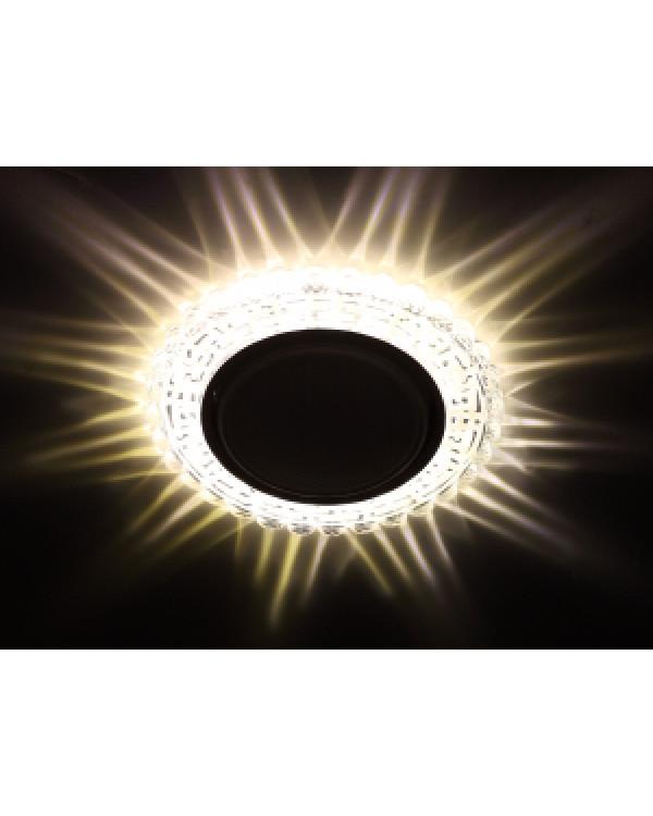 DK LD38 SL Светильник ЭРА декор cо светодиодной подсветкой GX53, зеркальный (30/720)