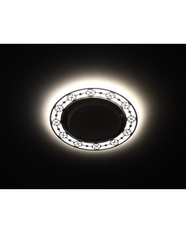 DK LD28 WH/WH Светильник ЭРА декор cо светодиодной подсветкой GX53, белый/белый (30/720)
