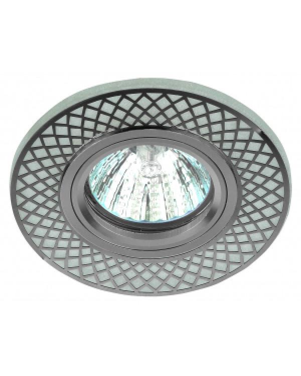DK LD42 WH/CH Светильник ЭРА декор cо светодиодной подсветкой MR16, белый/хром (50/2000)