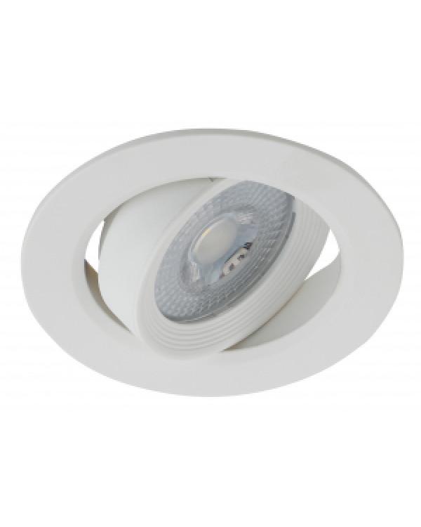 KL LED 22A-5 3K WH Светильник ЭРА светодиодный круглый поворотн. LED SMD 5W 3000K, белый (100/1600), KL LED 22A-5 3K WH
