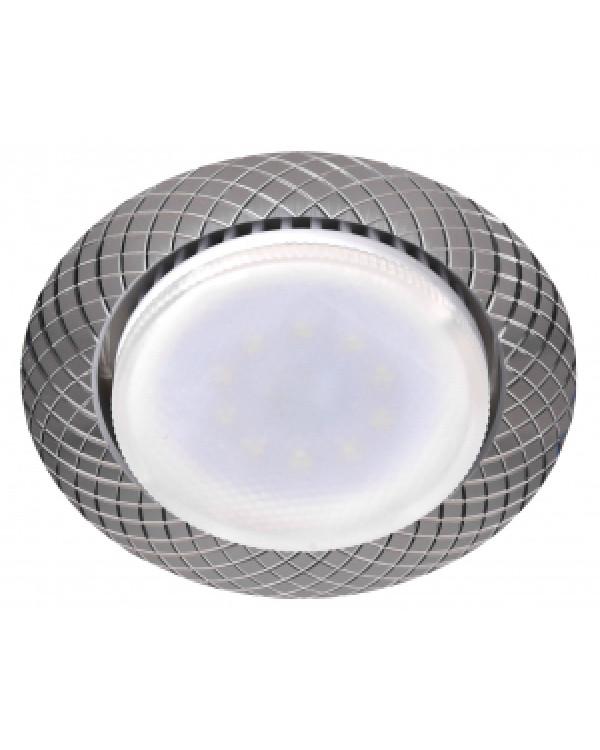 KL 76 AL/SL Светильник ЭРА под лампу Gx53,220V, 13W, серебро (50/1000), KL 76 AL/SL
