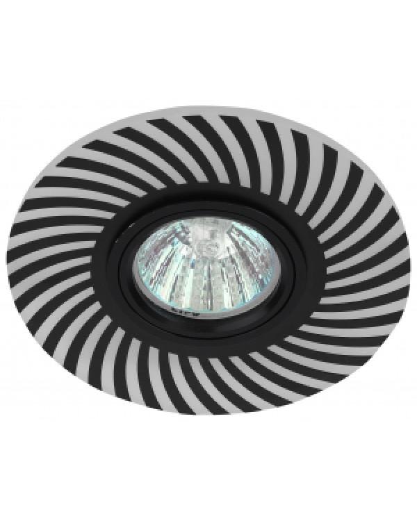 DK LD32 BK Светильник ЭРА декор cо светодиодной подсветкой MR16, 220V, max 11W, черный (50/800)