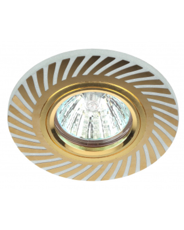 DK LD39 WH/GD Светильник ЭРА декор cо светодиодной подсветкой MR16, белый/золото (50/2000), DK LD39 WH/GD