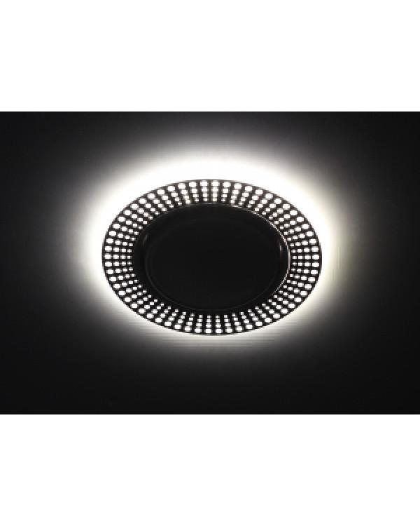DK LD29 WH/BK Светильник ЭРА декор cо светодиодной подсветкой GX53, белый/черный (30/720), DK LD29 WH/BK