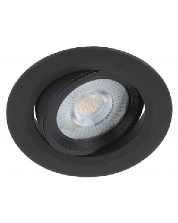 KL LED 22A-5 4K BK Светильник ЭРА Светильник ЭРА светодиодный круглый поворотн. LED SMD 5W 4000K, че, KL LED 22A-5 4K BK