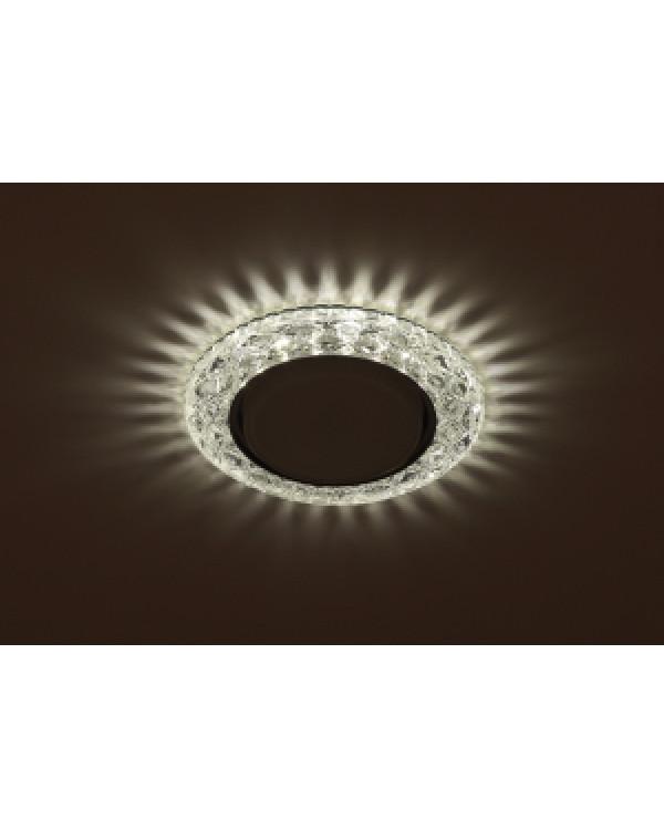 DK LD24 SL/WH Светильник ЭРА декор cо светодиодной подсветкой Gx53, прозрачный (50/800), DK LD24 SL/WH
