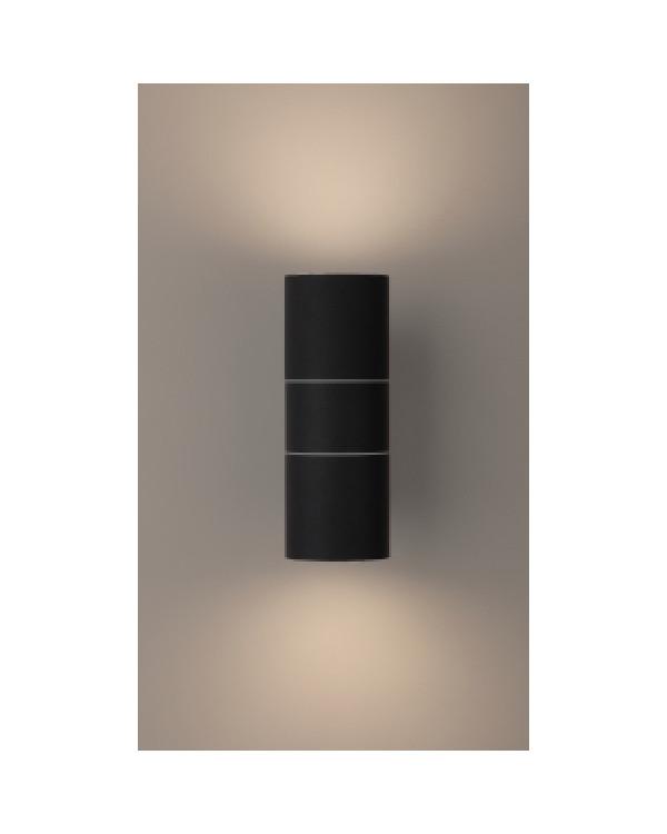 WL28 BK Подсветка ЭРА Декоративная подсветка 2*GU10 MAX35W IP54 черный (20/540), Б0034634