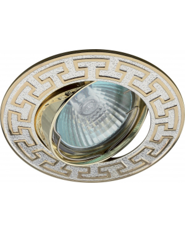 "KL28 А S/GD Светильник ЭРА литой пов. ""антик Т"" MR16,12V/220V, 50W серебро/золото (100/2100), KL28 А S/GD"