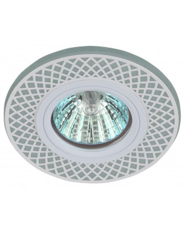 DK LD42 WH/WH Светильник ЭРА декор cо светодиодной подсветкой MR16, белый/белый (50/2000)