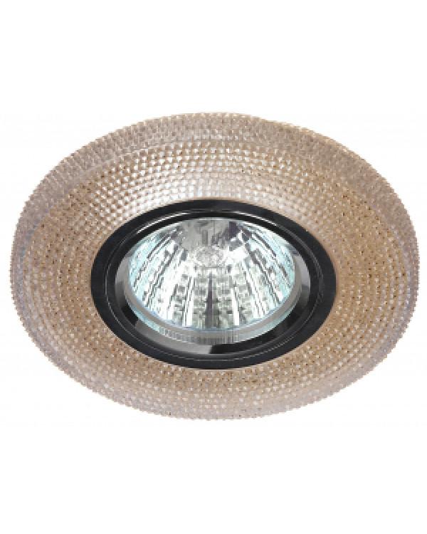 DK LD1 BR Светильник ЭРА декор cо светодиодной подсветкой, коричневый (50/1400), DK LD1 BR