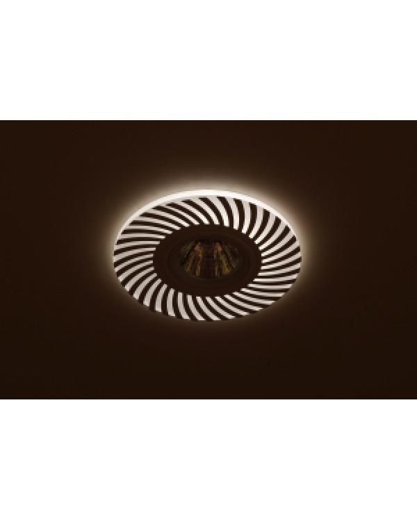 DK LD32 WH Светильник ЭРА декор cо светодиодной подсветкой MR16, 220V, max 11W, белый (50/1200)