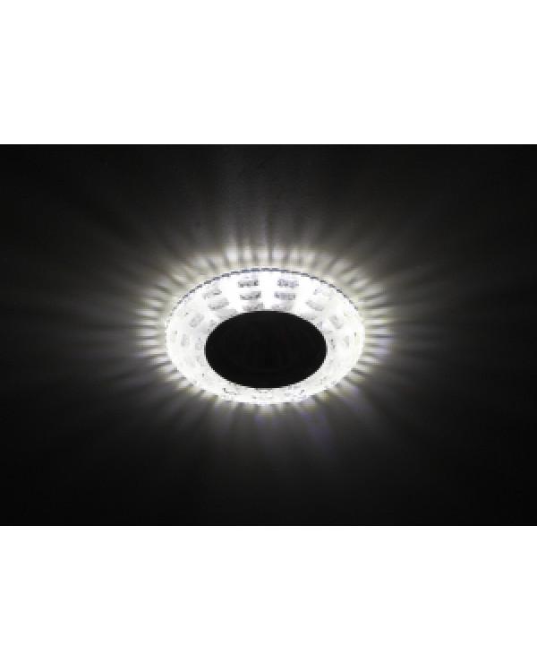 DK LD8 SL/WH Светильник ЭРА декор cо светодиодной подсветкой MR16, прозрачный (50/1400), DK LD8 SL/WH