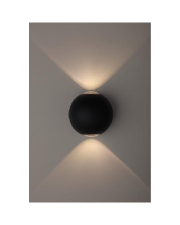 WL11 BK Подсветка ЭРА Декоративная подсветка светодиодная ЭРА 2*1Вт IP 54 черный (20/400), Б0034609