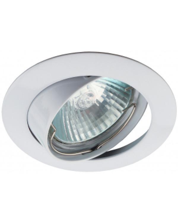 KL1A WH Светильник ЭРА литой простой пов. MR16,12V/220V, 50W белый (100/2100), KL1A WH