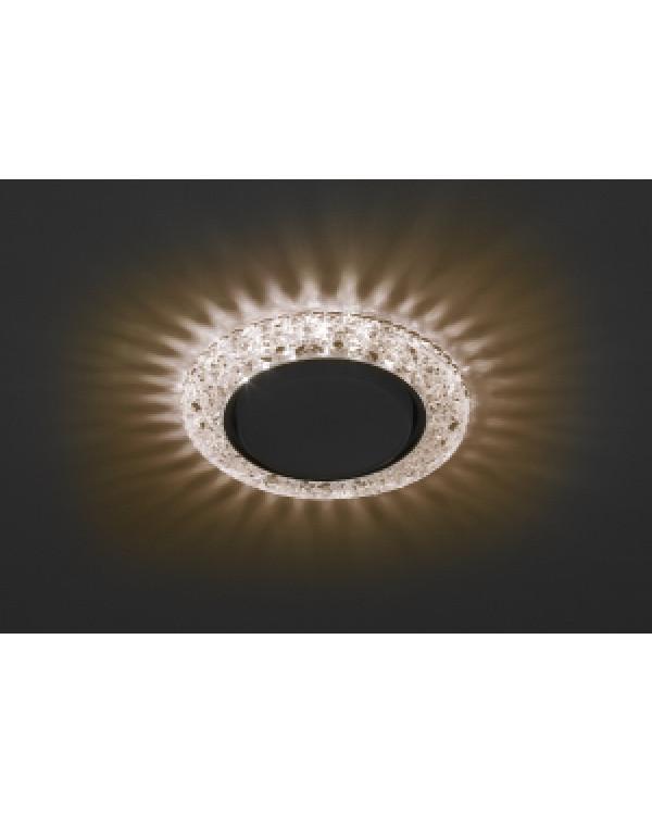 DK LD25 CHP/WH Светильник ЭРА декор cо светодиодной подсветкой Gx53, шампань (50/800), DK LD25 CHP/WH