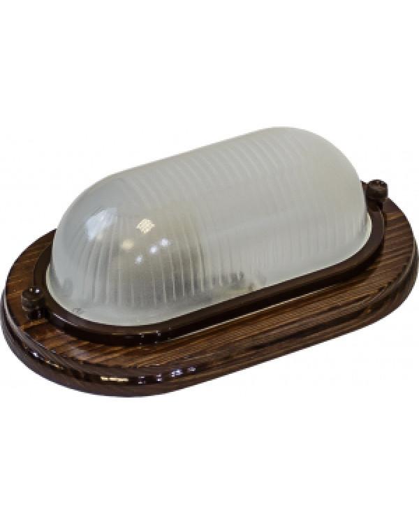 НБО 04-60-021 ЭРА Св-к дерево(Орех)., пл-н стекло, под лампу с цоколем Е27 (8/280), НБО 04-60-021