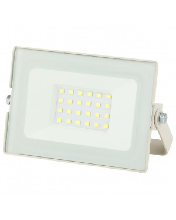 LPR-031-0-65K-020 ЭРА Прожектор светодиодный уличный 20Вт 1600Лм 6500К 122x75x35 белый (80/1440), LPR-031-0-65K-020
