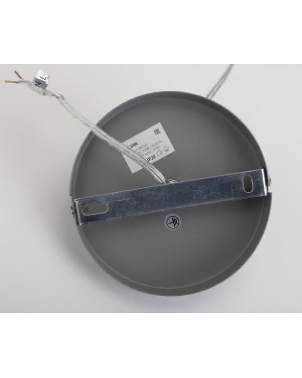 PL3 GR/SN Подвес ЭРА металл, E27, max 60W, d245 мм, шагрень серый/сатин никель (10/160), PL3 GR/SN