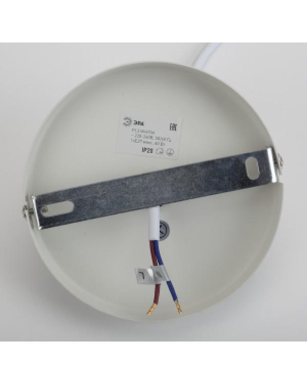 PL3 WH/SN Подвес ЭРА металл, E27, max 60W, d245 мм, шагрень белый/сатин никель (10/160), PL3 WH/SN
