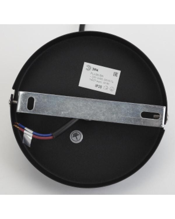 PL4 BK/BN Подвес ЭРА металл, E27, max 60W, d203 мм, шагрень черный/темный никель (10/210), PL4 BK