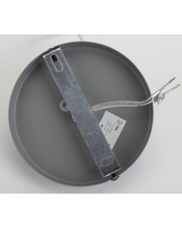 PL4 GR/RC Подвес ЭРА металл, E27, max 60W, d203 мм, шагрень серый/медь (10/210), PL4 GR/RC
