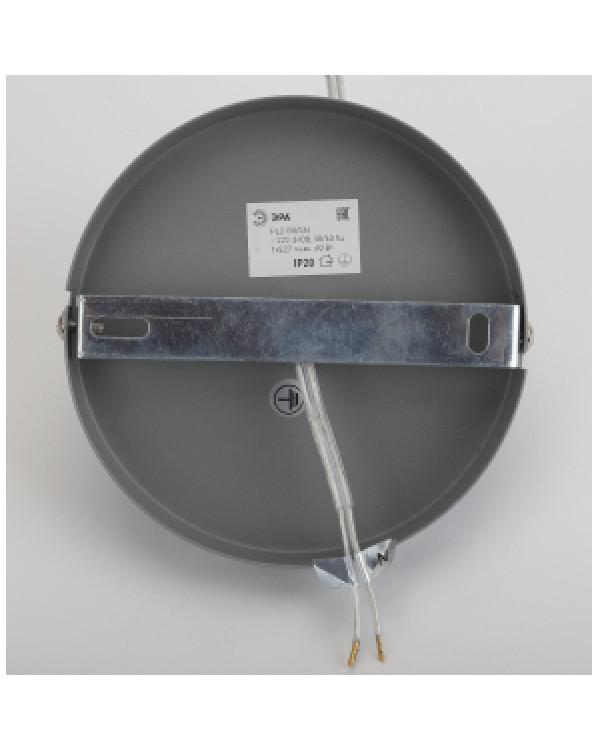 PL2 GR/SN Подвес ЭРА металл, E27, max 60W, d300 мм, шагрень серый/сатин никель (8/48), PL2 GR/SN