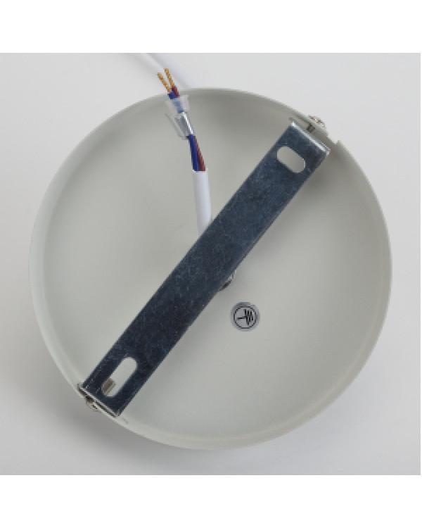 PL2 WH/SN Подвес ЭРА металл, E27, max 60W, d300 мм, шагрень белый/сатин никель (8/48), PL2 WH/SN