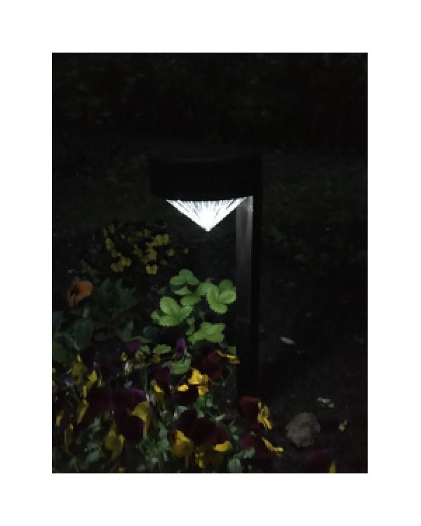SL-PL42-DMD ЭРА Садовый светильник на солнечной батарее, пластик, черный, 42 см (24/672), SL-PL42-DMD