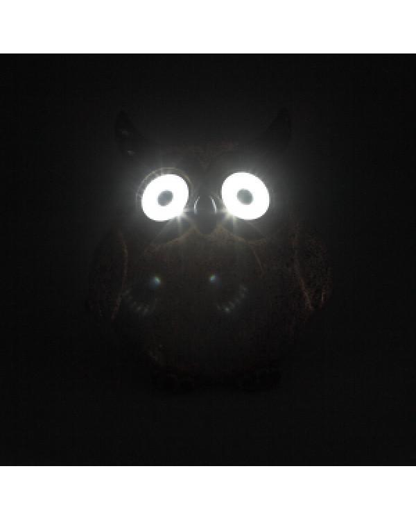 ERAFYS01-07 ЭРА Садовый светильник Филин серый на солнечной батарее, полистоун, 11,5 см (36/432), ERAFYS01-07