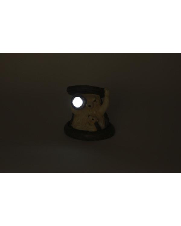 SL-RSN11-HDG2 ЭРА Садовый светильник на солнечной батарее, полистоун, цветной, 11 см (48/384), SL-RSN11-HDG2
