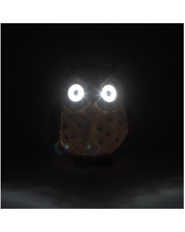 ERAFYS01-12 ЭРА Садовый светильник Сова коричневая на солнечной батарее, полистоун, 13 см (36/288), ERAFYS01-12