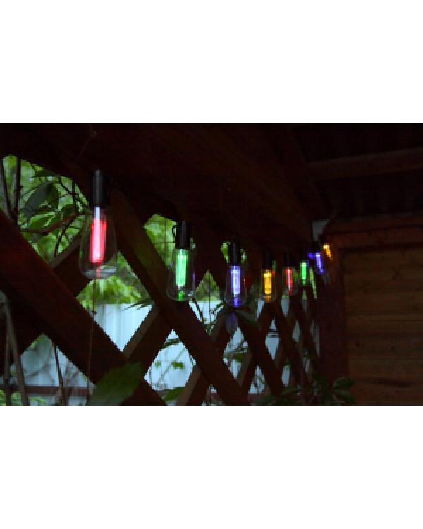 ERAGS012-04 ЭРА Садовая гирлянда 10 подсвечиваемых светодиодами лампочек.Общая длина от солнечной п, ERAGS012-04