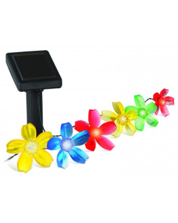SL-PL400-FLW10 ЭРА Садовый светильник на солнечной батарее, пластик, цветной, черный, длина 400 см (, SL-PL400-FLW10